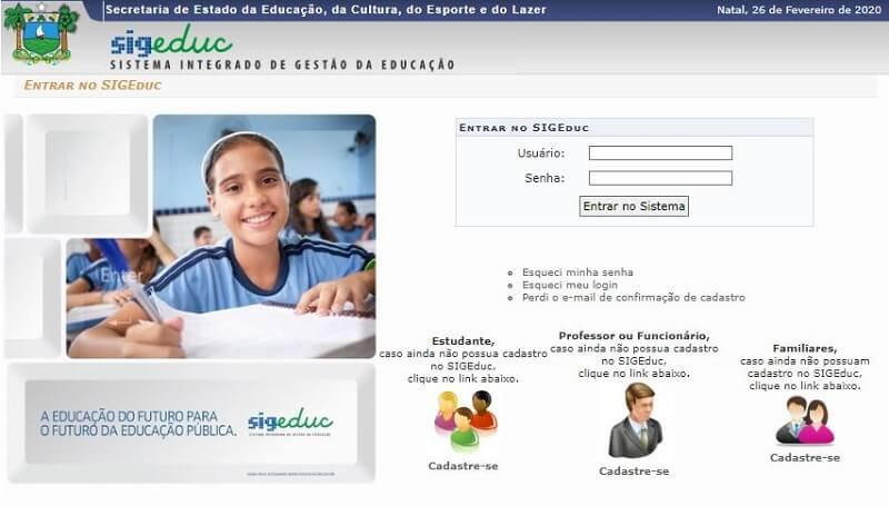 Boletim Online Sigeduc RN