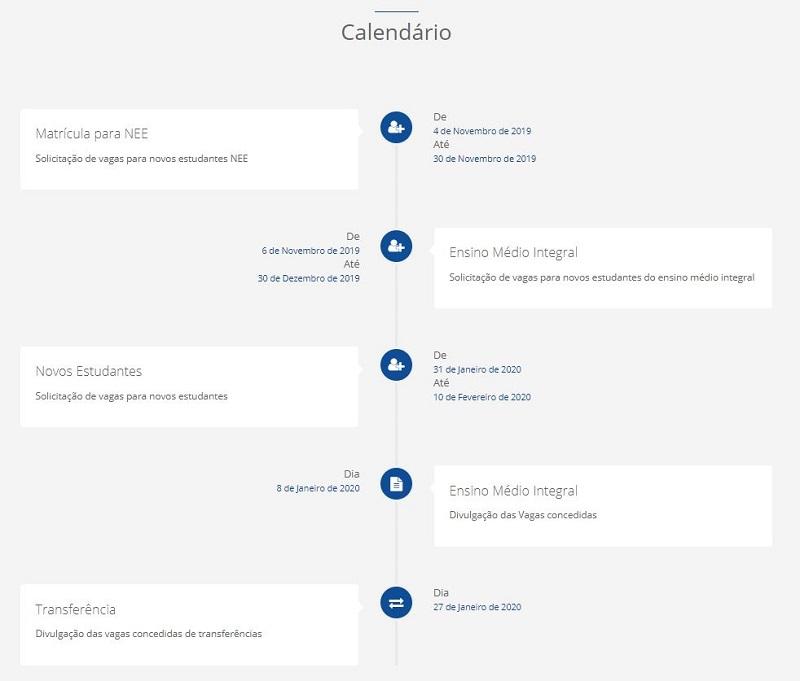 Calendário da Matrícula Sigeduc RN