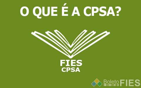 O que é CPSA